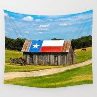 texas Wall Tapestries featuring Texas Barn by Gary Grayson