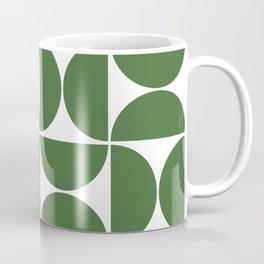 Modern Geometric Seamless Green Pattern Mid Century Coffee Mug
