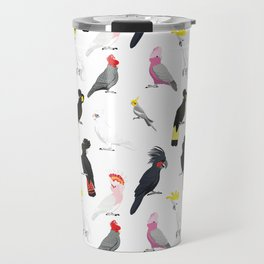 Australian cockatoos pattern Travel Mug