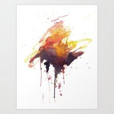 Storms at Sunset Art Print