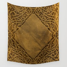 Vintage Ornamental Book Cover Wall Tapestry