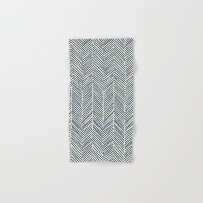 Freeform Arrows in navy Hand & Bath Towel