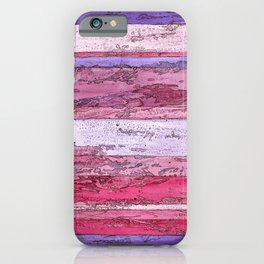 Bands of Red, Pink, and Purple iPhone Case