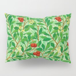 William Morris Lychee Tree Pattern, Light Jade Green Pillow Sham