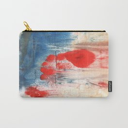 Red Blue watercolor Carry-All Pouch