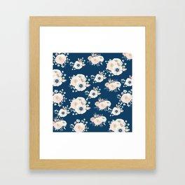Dog Rose Pattern Framed Art Print
