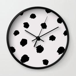 black & very light gray /geometric series Wall Clock