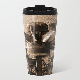 End of the Trail Sepia Travel Mug