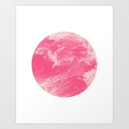 Pink Ocean Waves Art Print