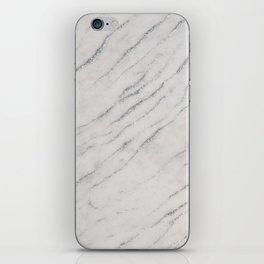 Marble Silver Glitter Glam #1 #shiny #gem #decor #art #society6 iPhone Skin