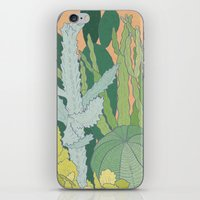 cacti iPhone & iPod Skins featuring Cacti by Julia Walters Illustration