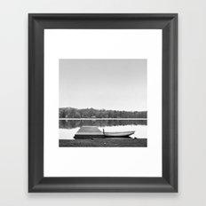 Boat at Dock Framed Art Print