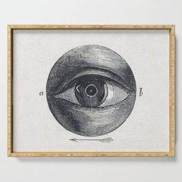 Menselijk oog met een afwijking (1836-1912) print in high resolution by Isaac Weissenbruch Serving Tray