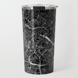 Rome Black Map Travel Mug