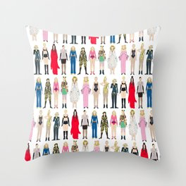 Outfits of Madge Fashion Throw Pillow