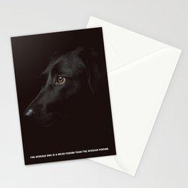 Black dog Poster Stationery Cards