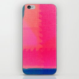 Art abstract pink blue iPhone Skin