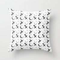 xoxo Throw Pillows featuring XOXO by Neon Wildlife