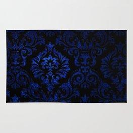 Doctor Who - Tardis Blue Damask Pattern Rug