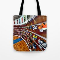 runner Tote Bags featuring Runner by LeicaCologne Germany