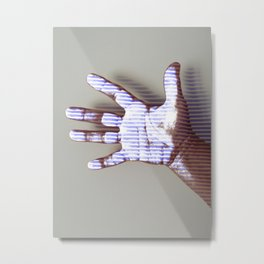 Ultraviolet Touch Metal Print