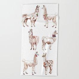 LLAMARAMA Beach Towel