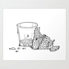 Thirsty Grouse Art Print