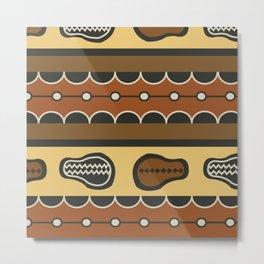 African Tribal Pattern No. 83 Metal Print