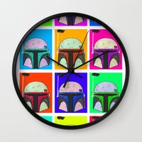 boba Wall Clocks featuring Boba-Hol by domm