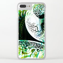 Opposition Green Inversion Clear iPhone Case