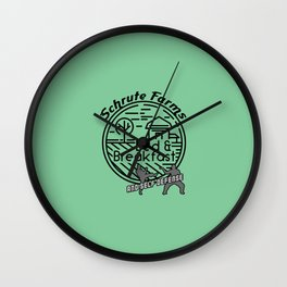 Schrute Farms bed and breakfast and self defense Wall Clock