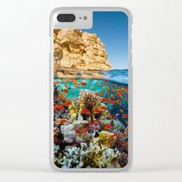 Island Sea Underwater Clear iPhone Case