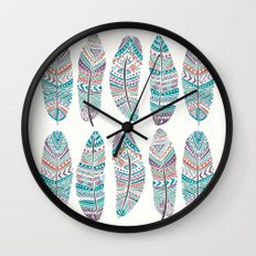 Feathers of Nature Wall Clock
