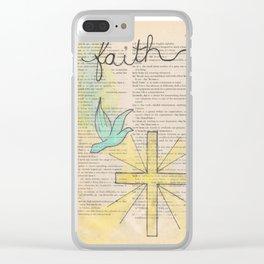 Faith Dictionary Doodle Clear iPhone Case
