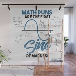 Funny Math Puns Graph Madness Teacher School Gift Wall Mural