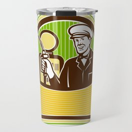 Vintage Gas Attendant Retro Travel Mug