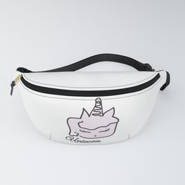 Unicorn digital painting pink white childrens fantasy cute sweet quotes , society6 Fanny Pack