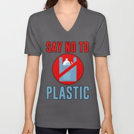 Say No To Plastic Unisex V-Neck