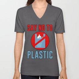 Say No To Plastic Unisex V-Neck