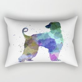 Afgan Hound 01 in watercolor Rectangular Pillow