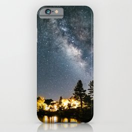 Stunning Milky Way By The Lake iPhone Case