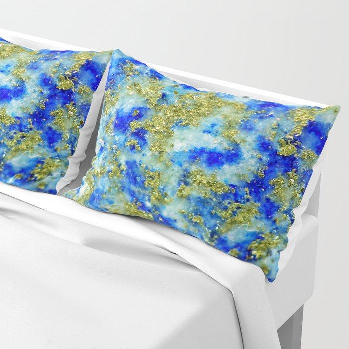 Lapis Lazuli Texture Pillow Sham