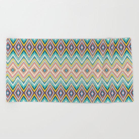Geometric Color Fun Beach Towel
