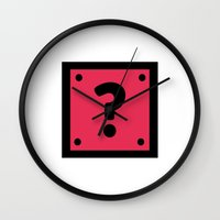 video game Wall Clocks featuring Video Game Mystery Box by Thomas Ramey