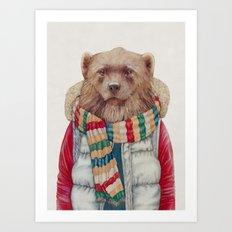 WinterWolverine Art Print