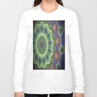 concrete Long Sleeve T-shirts featuring Concrete Mandala by Emily Pleger