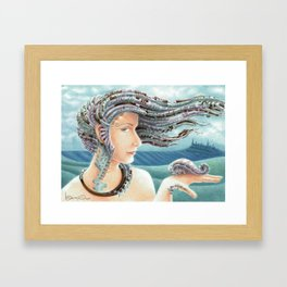Portrait by the sea 2 Framed Art Print