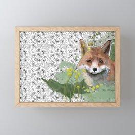Shy Fox Framed Mini Art Print