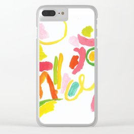 Abstract Landscape 1 Clear iPhone Case