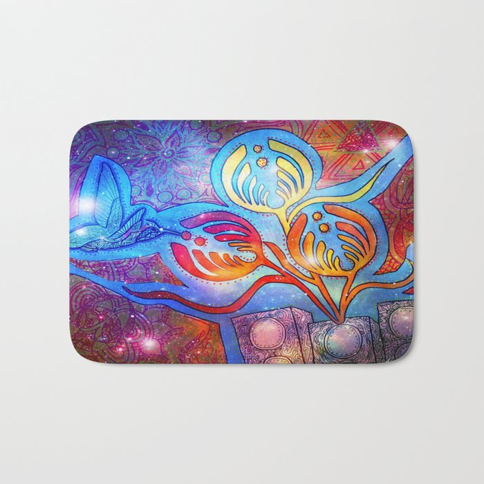 Cosmic Hummingnectar Bath Mat